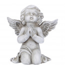 Praying Poly Angel Pray, H14cm, gray